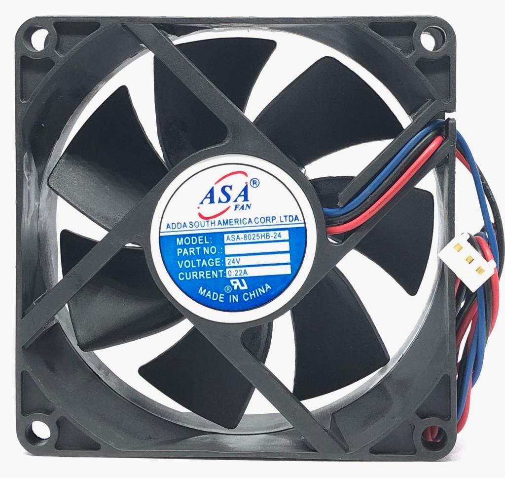 VENTILADOR FAN COOLER 80X80X25MM ASA8025HB-24 24VDC ADDA (ASA8025HB24)