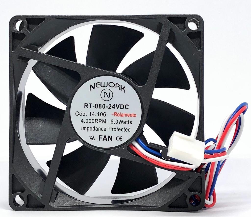 VENTILADOR FAN COOLER 80X80X25MM RT-080 24VDC 14.106 NEWORK (RT080 14106)