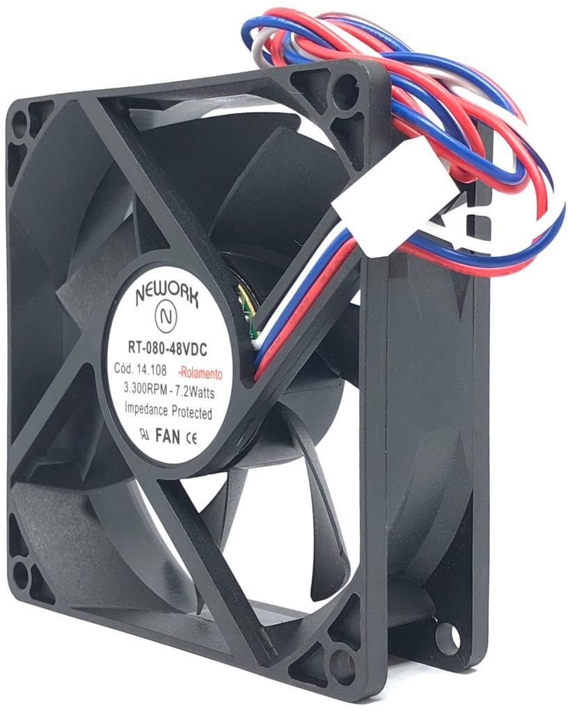 VENTILADOR FAN COOLER 80X80X25MM RT-080 48VDC 14.108 NEWORK (RT080 14108)