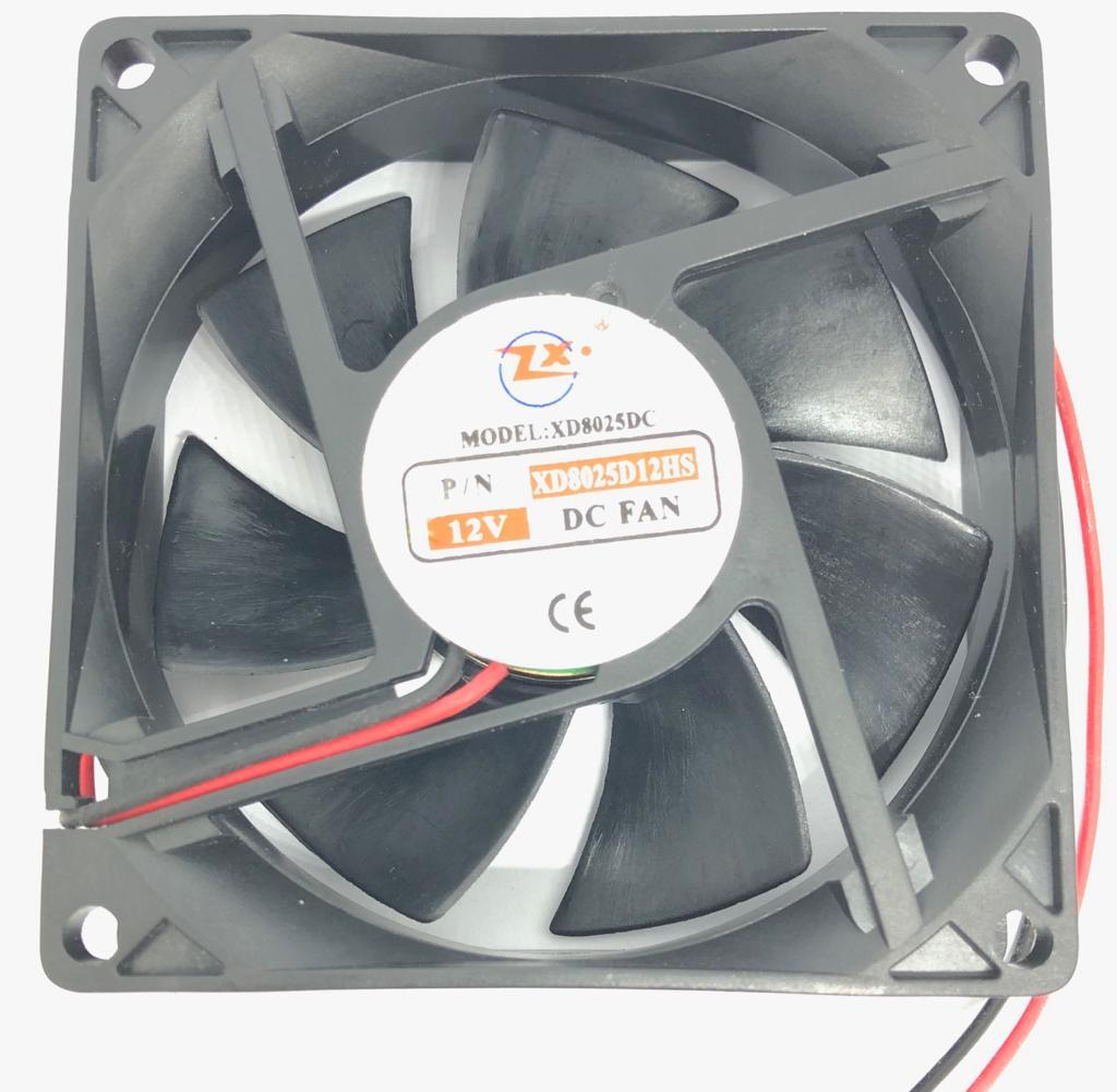 VENTILADOR FAN COOLER 80X80X25MM XD8025D12HS 12VDC