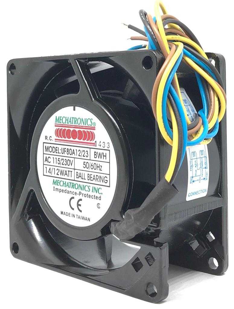 VENTILADOR FAN COOLER 80X80X38MM UF80A12/23-BWH MECHATRONICS (UF80A1223BWH)