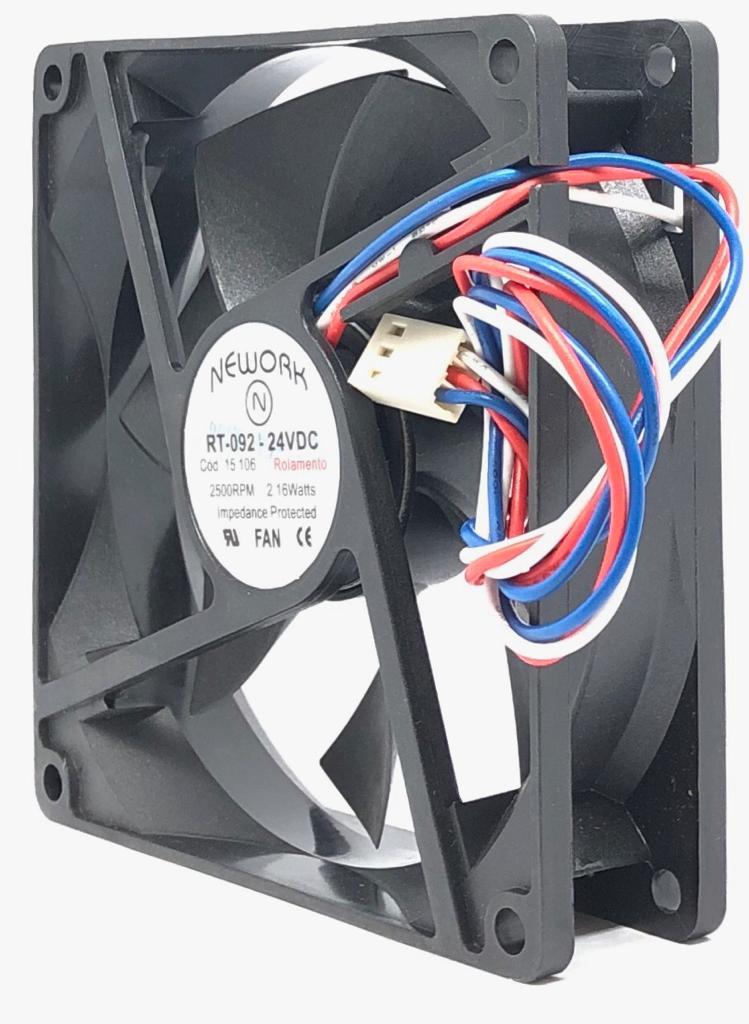VENTILADOR FAN COOLER 92X92X25MM RT-092 24VDC 15.106 NEWORK (RT092 15106)