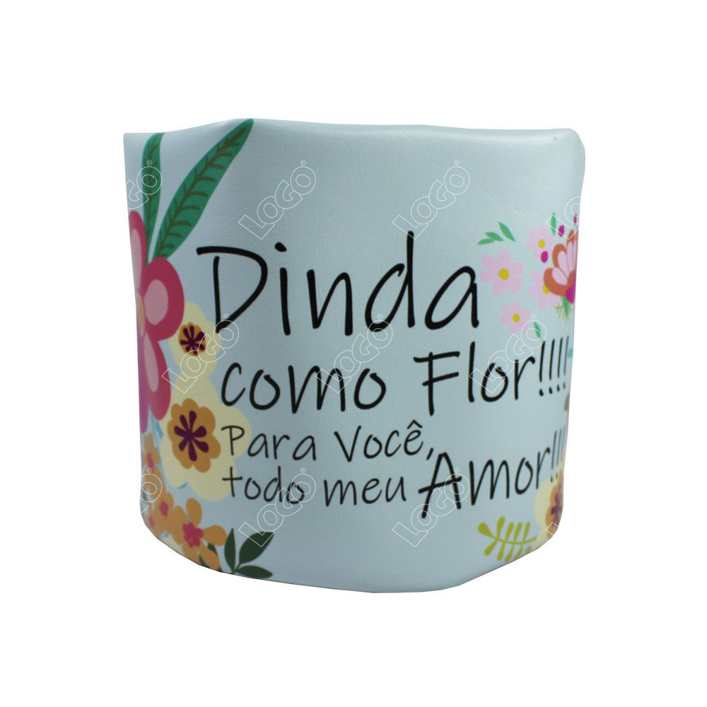 CACHEPOT PEQUENO FLORAL DINDA P204