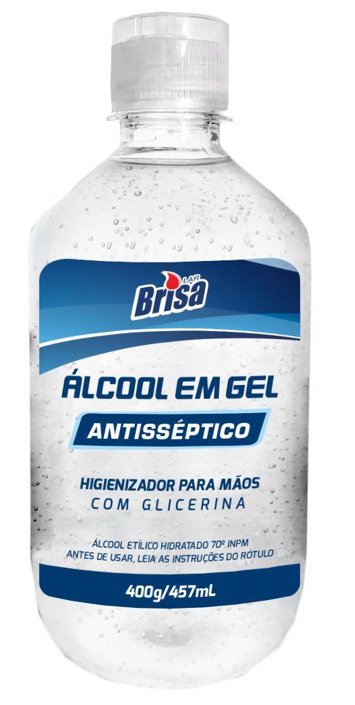 Álcool em Gel 70% Antisséptico Brisa Lar 400g/457mL
