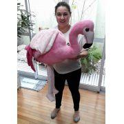 Flamingo de Pelúcia Rosa Gigante Grande Pássaro de 1 metro ou 100cm de altura