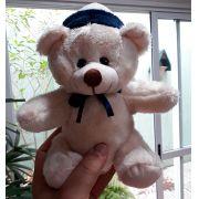 Mini Urso de Pelúcia 20cm Marinheiro Ursinho Pequeno para decoração presente aniversário namorados artesanato enfeite quarto nicho decorações festas intantil bebê neném