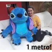 Pelúcia Gigante Little Stich Lilo Real 1 metro / 100cm Grande Azul Brinquedo Realista Presente Crianças Aniversário Festas