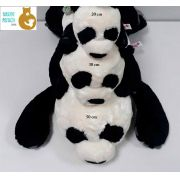 Trio de Ursos de Pelúcia Panda Nici 50cm + 30cm + 20cm com Filhote de 8cm Ursinho para decoração presente namorada aniversário natal amigo secreto dia das mães festa eventos artesanato enfeite