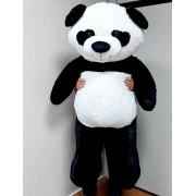 Urso de Pelúcia Panda Gigante Grande 1,50 metros ou 150cm de altura x 80cm de Largura presente ideal para namorada namorados aniversário festa decoração eventos