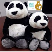 Urso de Pelúcia Panda Nici 35cm + 25cm Ursinhos para decoração presente namorados dia das mães festa eventos artesanato enfeite