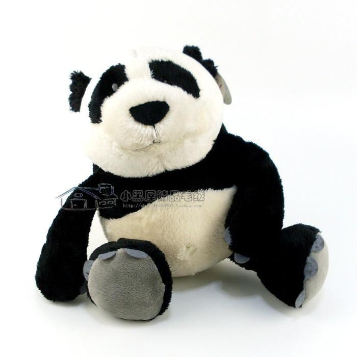 Urso de Pelúcia Panda Nici 35cm + 15cm Ursinhos para decoração presente namorados dia das mães festa eventos artesanato enfeite