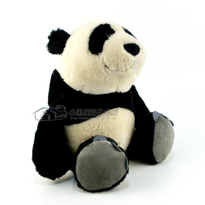 2 Ursos de Pelúcia Panda Nici 35cm + 15cm Ursinhos para decoração presente namorados dia das mães festa eventos artesanato enfeite