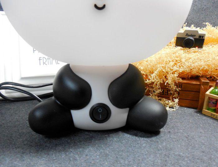 Abajur Luminária Panda Para Quarto Infantil Com Lampada Bivolt > Ideal para Presentar Usar na Decoração Quarto Bebê Neném luz amarelada calmante