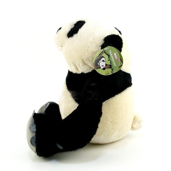 Caneca de Porcelana 330ml com Ursinho de Pelúcia Panda 15cm com a frase: Bons amigos são como estrelas, Nem sempre podemos ver,  mas temos certeza de que estão sempre lá.