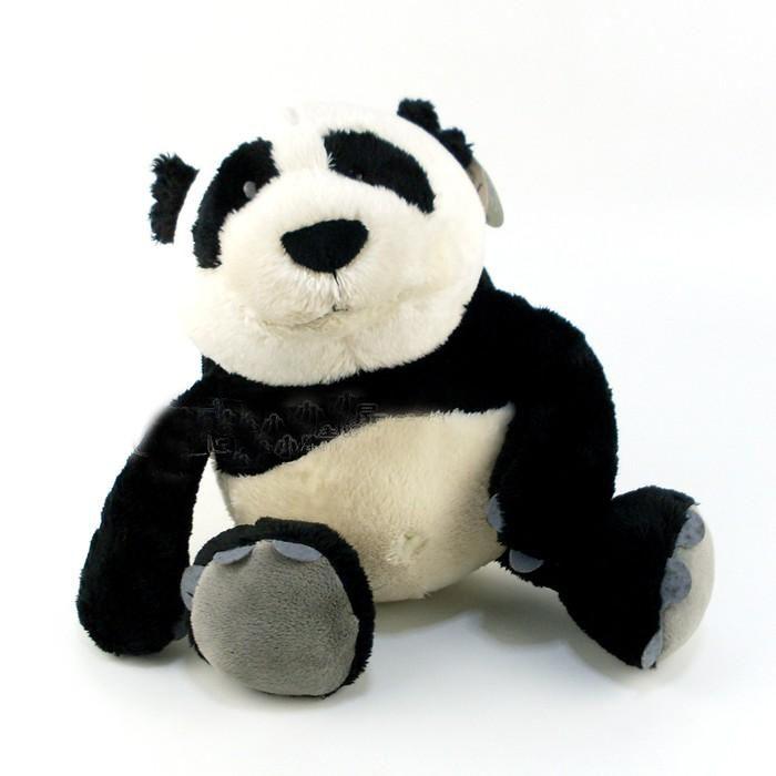 Caneca de Porcelana 330ml com Ursinho de Pelúcia Panda 15cm com a frase: Desejo um feliz natal para você e toda sua família!