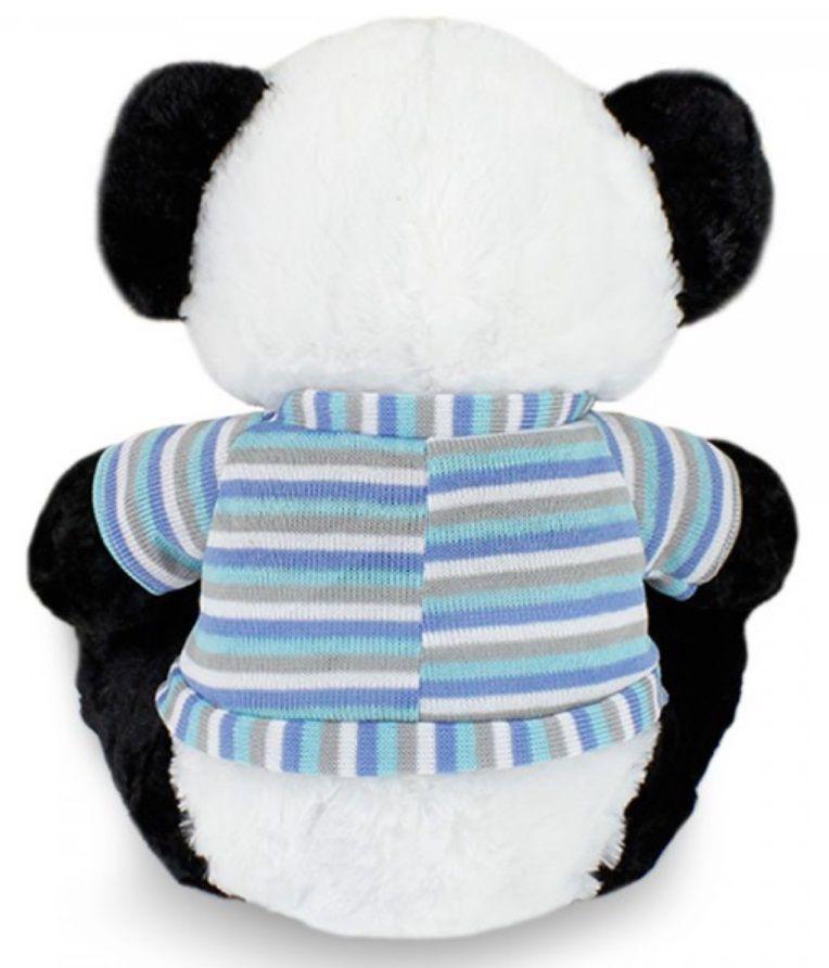 Amigo Urso de Pelúcia Panda 50cm Dengoso Panduco com Roupinha Casaco Azul Ursinho para decoração presente namorada natal ano novo amigo secreto festa eventos artesanato enfeite