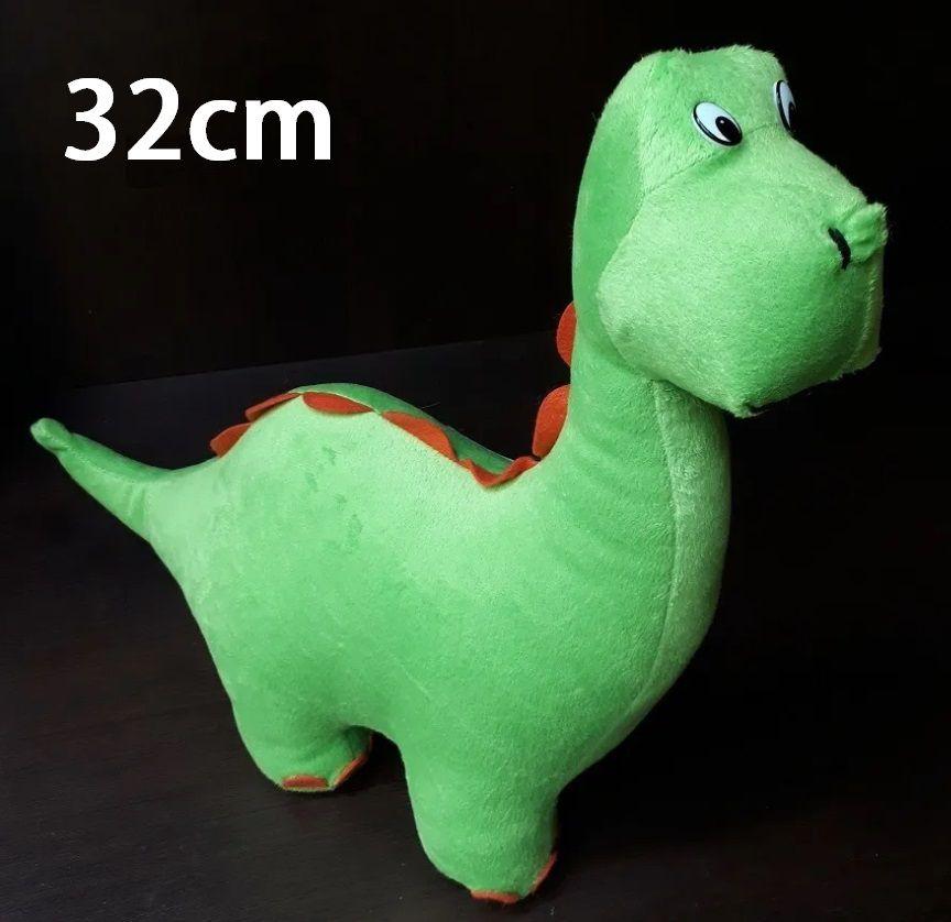 Dinossauro Dino de Pelúcia Safari Selva Animal Macio 32cm de altura Decoração Festas Presente Namorada Aniversário Crianças Bebê Neném