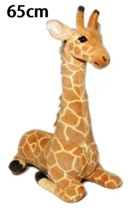 Girafa de Pelúcia Safari Selva Animal Macio 65cm de altura Decoração Festas Presente Namorada Aniversário Crianças Bebê Neném