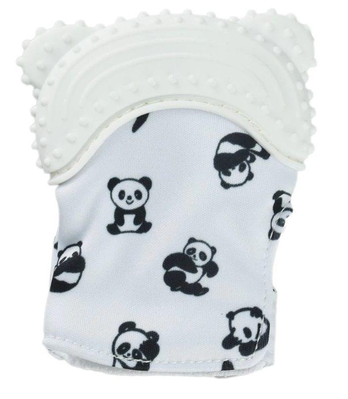 Luvinha Mordedor Bebê Silicone para Auxilia na Dentição Alivio imediato para as gengivas e dentição, a luva possui tecido com barulhinho