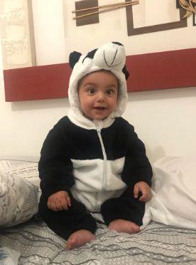 Macacão Infantil Roupa Fantasia Quente Bebê Urso Panda Fleece Soft Super Macio -  Mimos para Neném