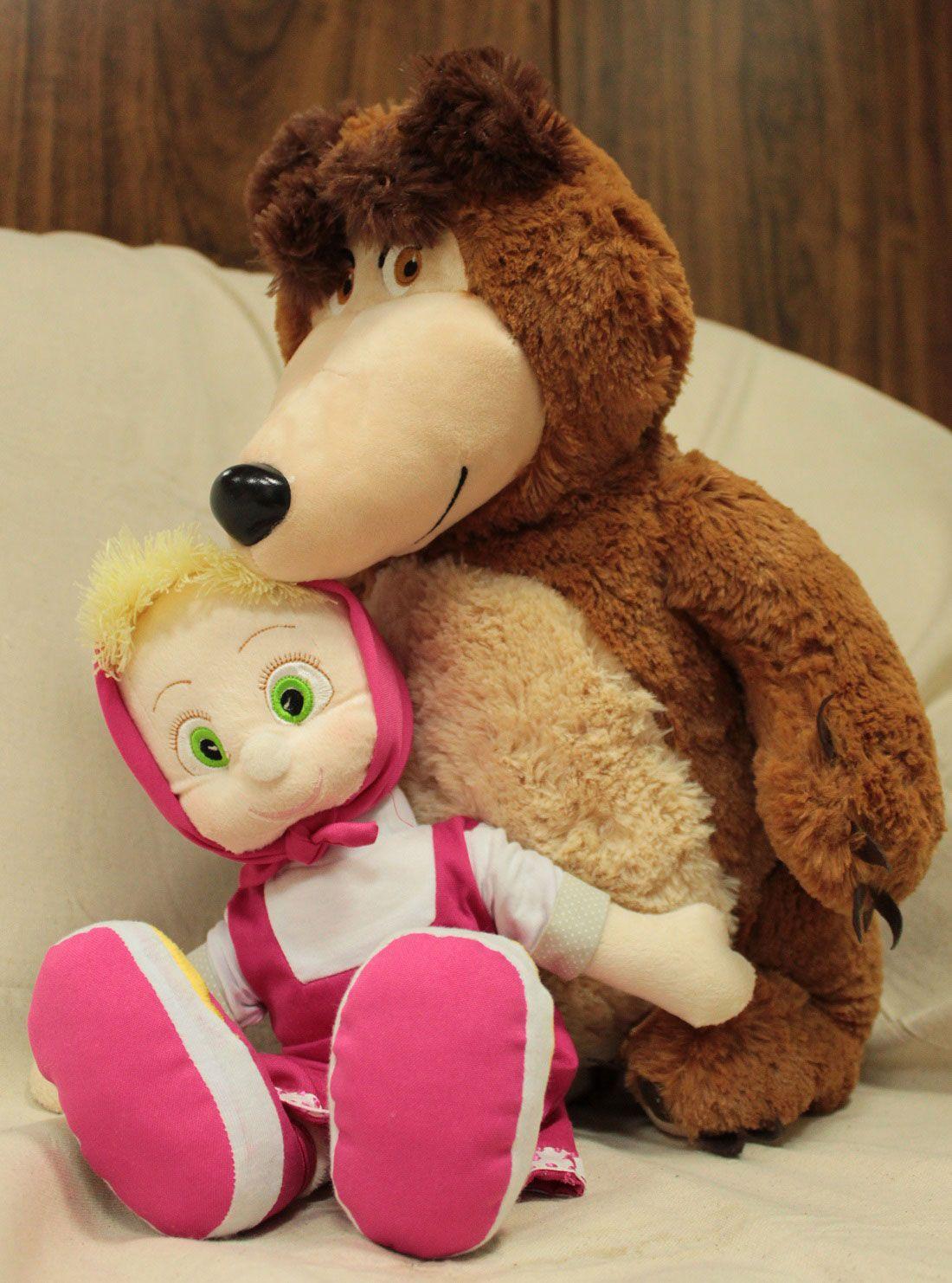 Masha 42cm e o Urso 55cm de altura Pelúcia de Alta Qualidade ideal para presentear!