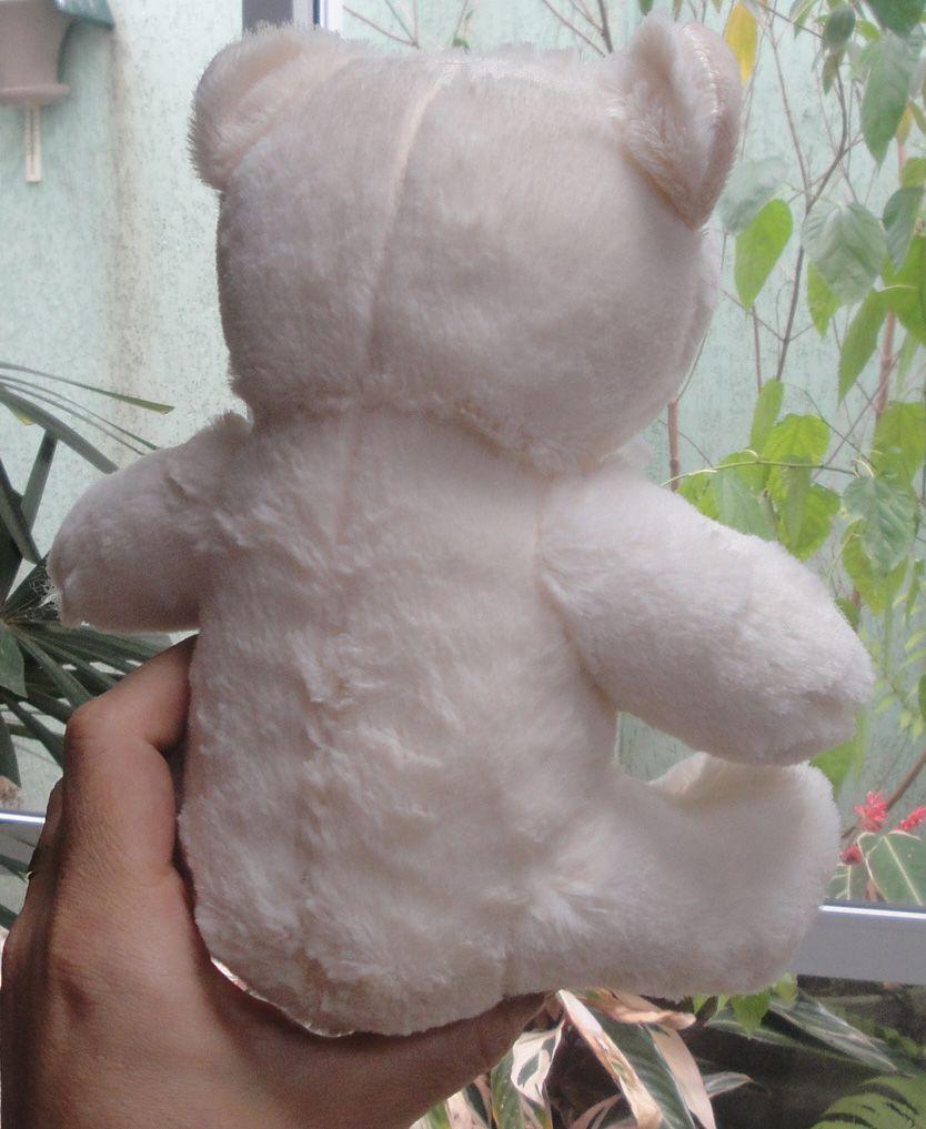 Mini Urso de Pelúcia 20cm com Lacinho e Pérola Ursinho Pequeno para decoração presente aniversário namorados artesanato enfeite quarto nicho decorações festas intantil bebê neném