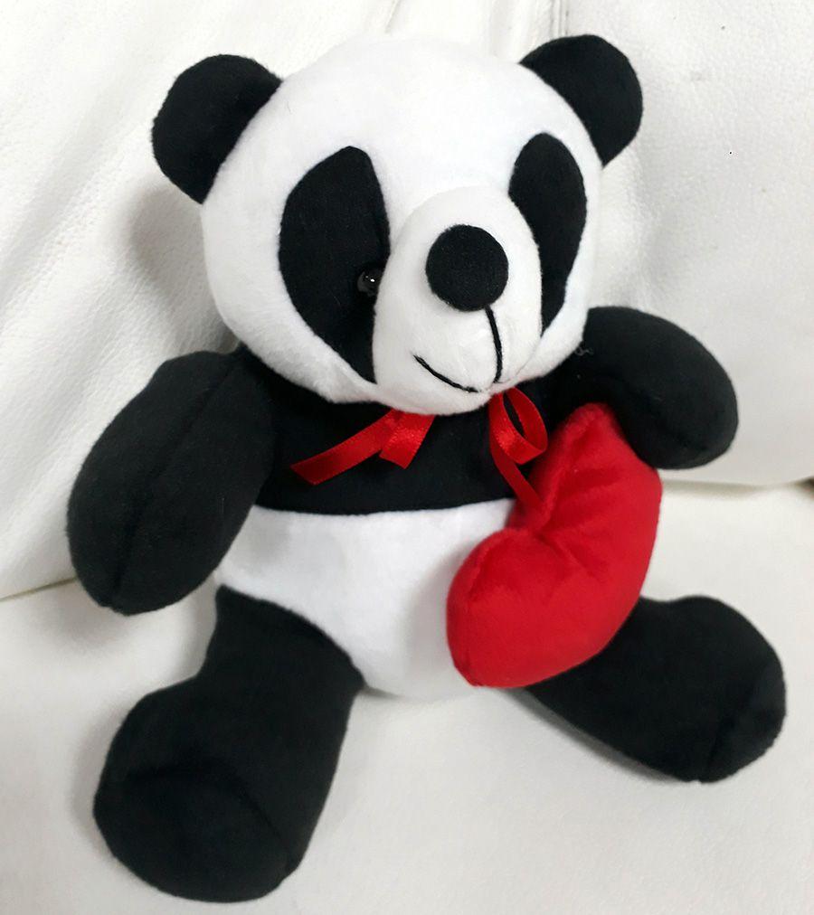 Mini Urso de Pelúcia 20cm Panda Ursinho Pequeno para decoração presente aniversário namorados artesanato enfeite quarto nicho decorações festas intantil bebê neném