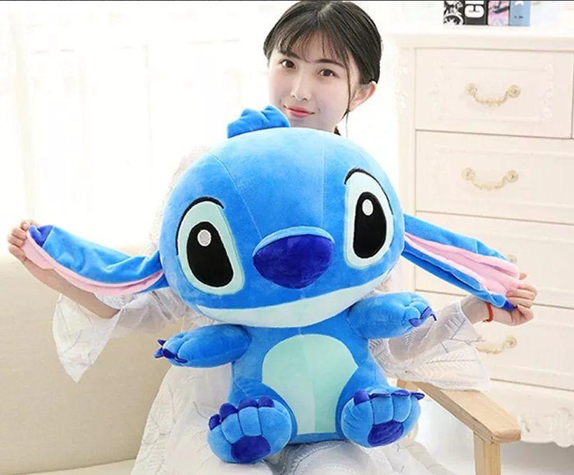 Pelúcia do Little Stich Lilo 65cm Azul Brinquedo Presente Crianças Aniversário Festas