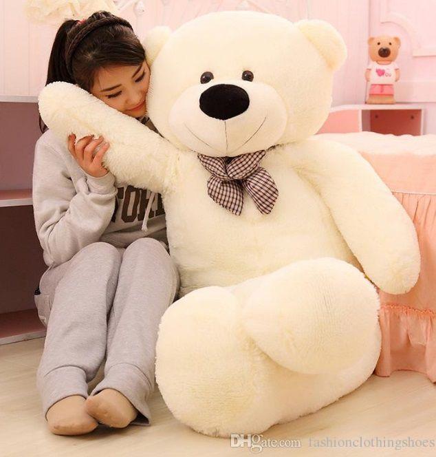 Urso de Pelúcia Creme Polar Gigante Grande 1,40 metros ou 140cm de altura