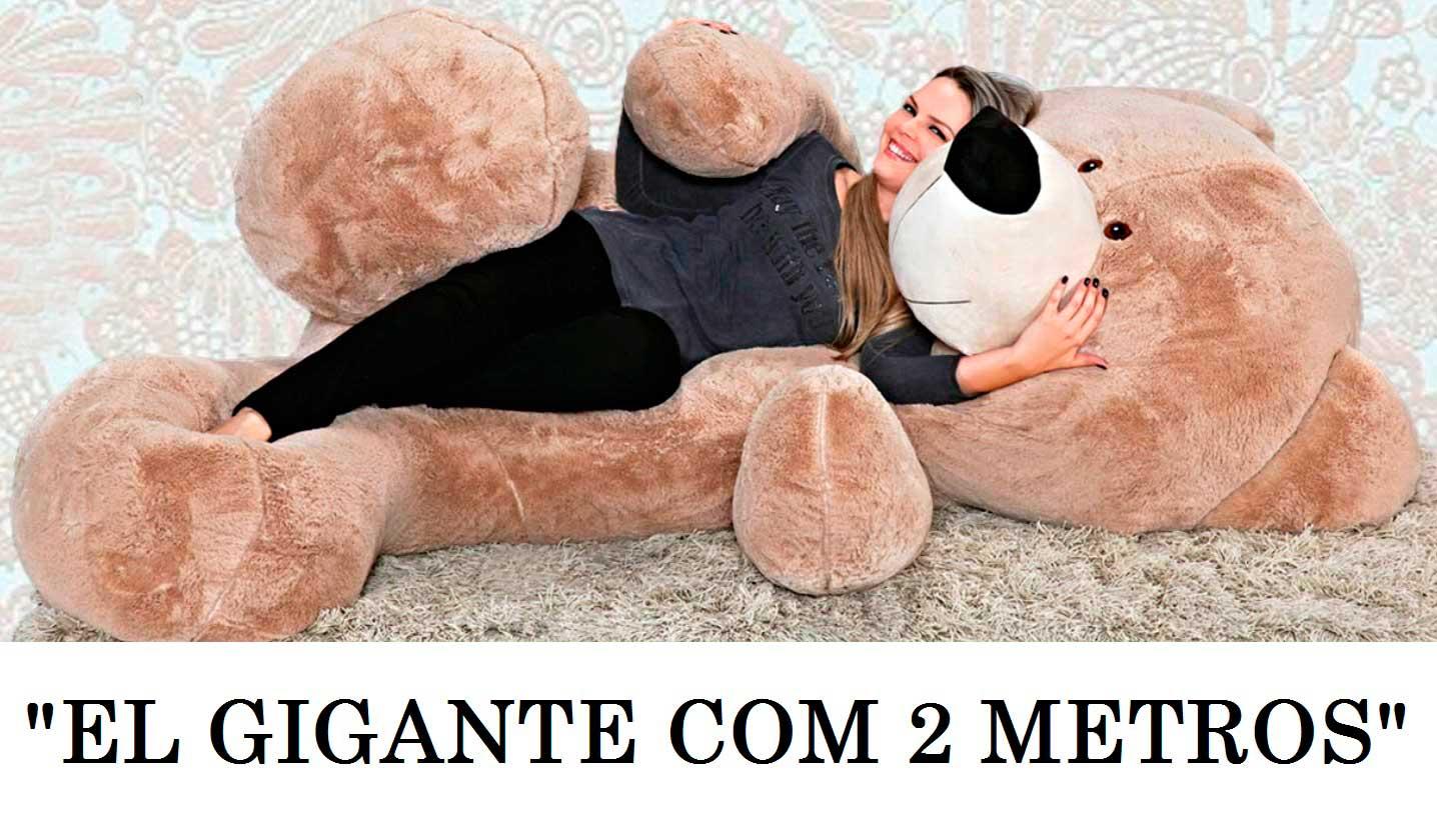 """Urso de Pelúcia Areia """" EL GIGANTE """" 2 metros ou 200cm de altura será o maior presente que alguém já ganhou na vida!"""