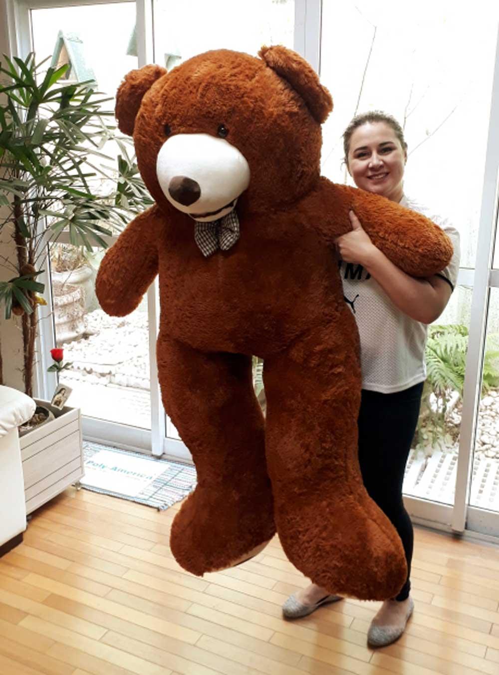 Urso de Pelúcia Marrom Fofo Enorme Gigante Grande 1,60 metros ou 160cm de altura