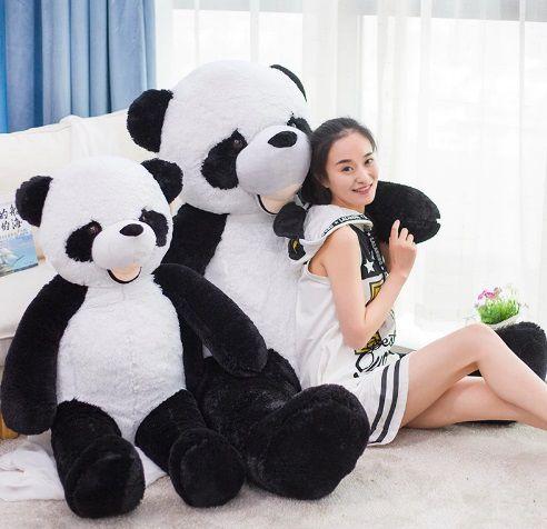 Urso de Pelúcia Panda Gigante Grande 1,60 metros ou 160cm de altura presente ideal para namorada namorados aniversário festa decoração eventos