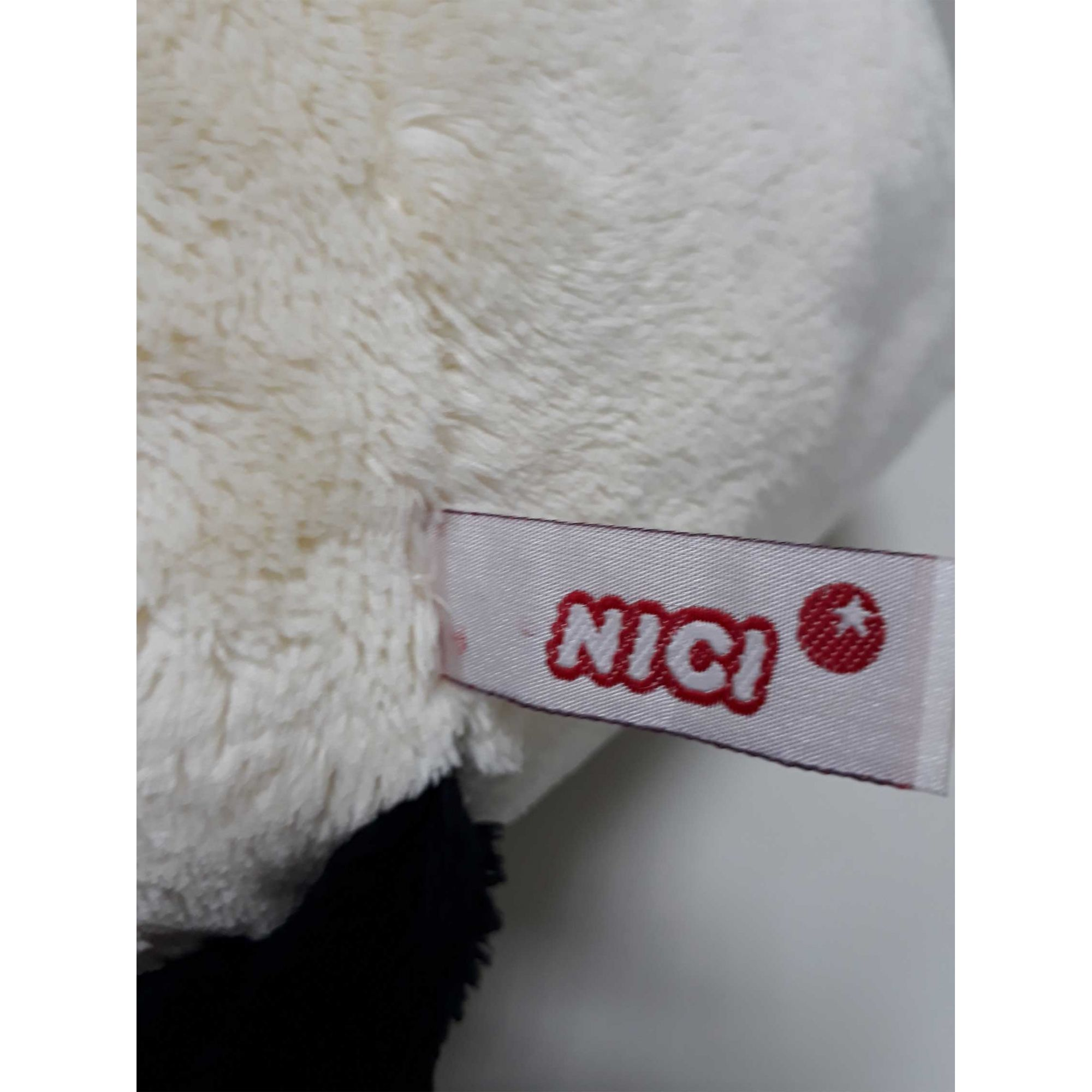 Urso de Pelúcia Panda Nici 20cm - Ursinho Naninha Deitado pequeno para decoração quarto bebê neném presente namorado artesanato enfeite festas eventos