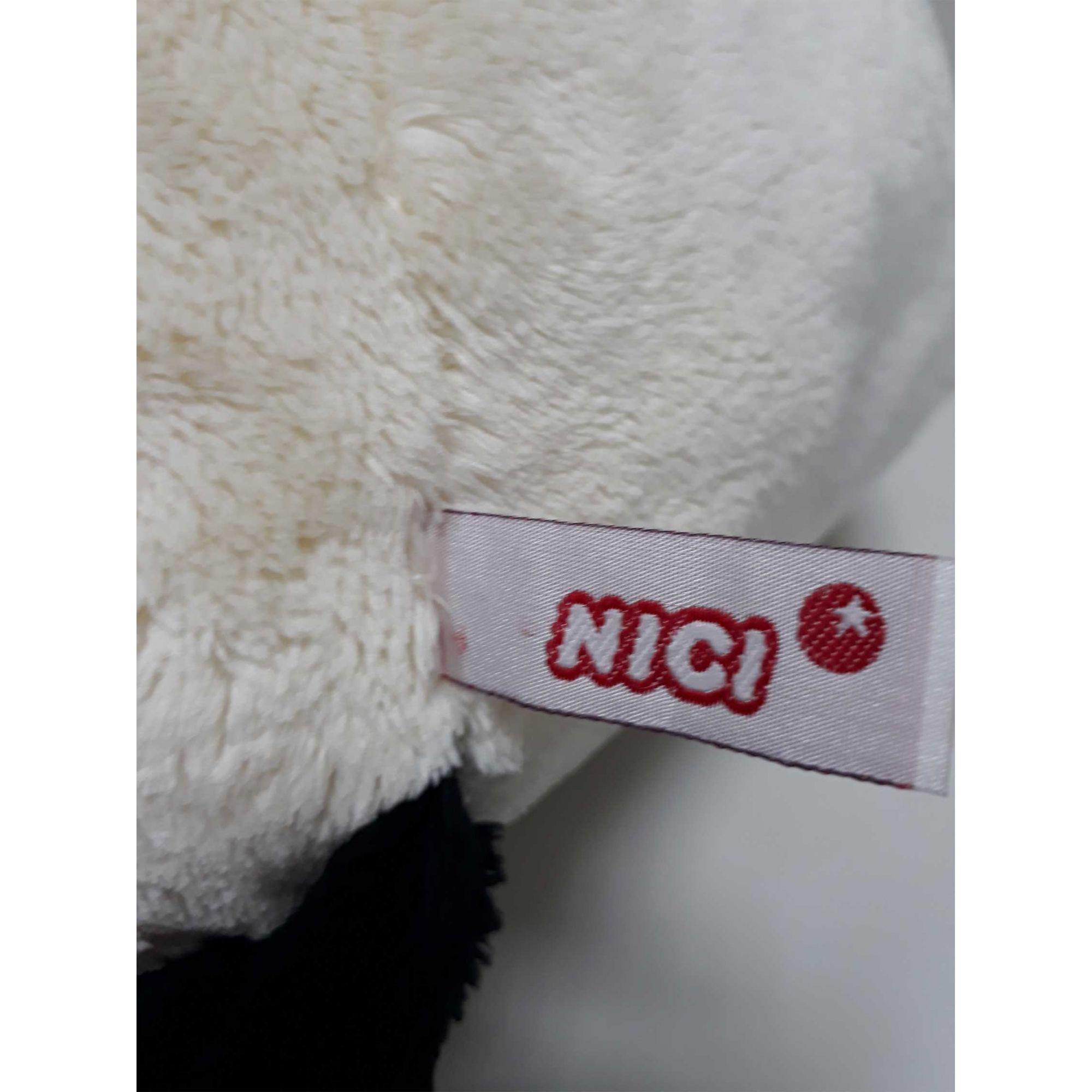 Urso de Pelúcia Panda Nici 35cm - Ursinho médio para decoração presente namorada aniversário natal amigo secreto dia das mães festa eventos artesanato enfeite