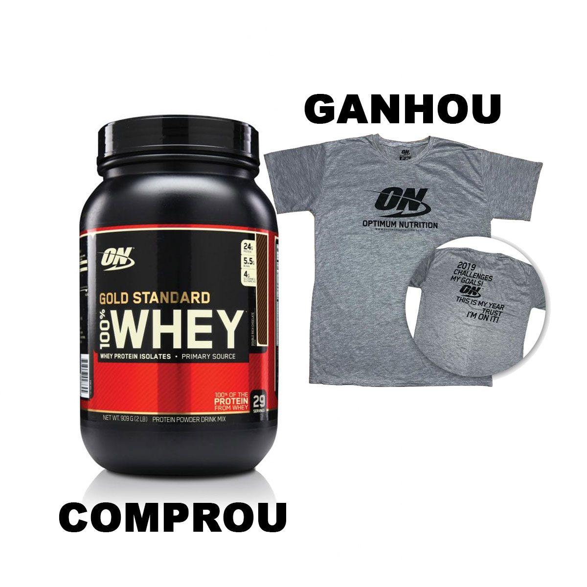 100% Whey Gold Standard 909g Optimum Nutrition  - Vitta Gold