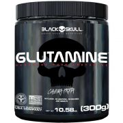 Glutamine Caveira Preta 300g Black Skull