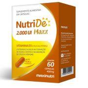 NutriDE Maxx 2000ui 60 Cápsulas Maxinutri