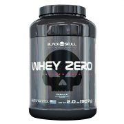 Whey Zero 907g Black Skull + Coqueteleira Black Skull