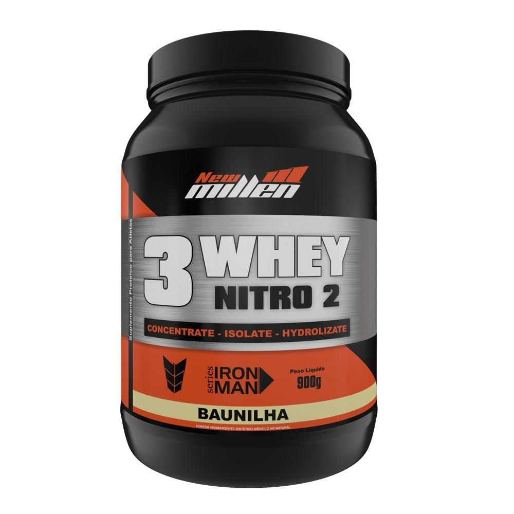 3 Whey Nitro2 900g New Millen