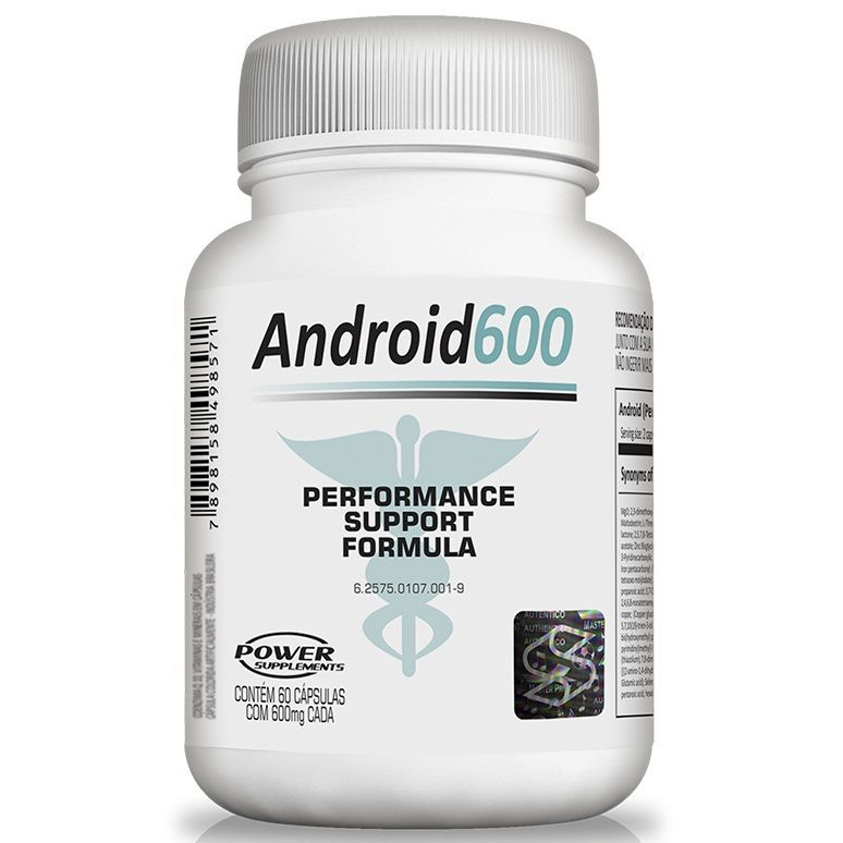 Android 600 60 Cápsulas Power Supplements  - Vitta Gold