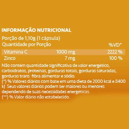 Ascorvit-C Vitamina C 1000mg 60 Cápsulas Maxinutri  - Vitta Gold