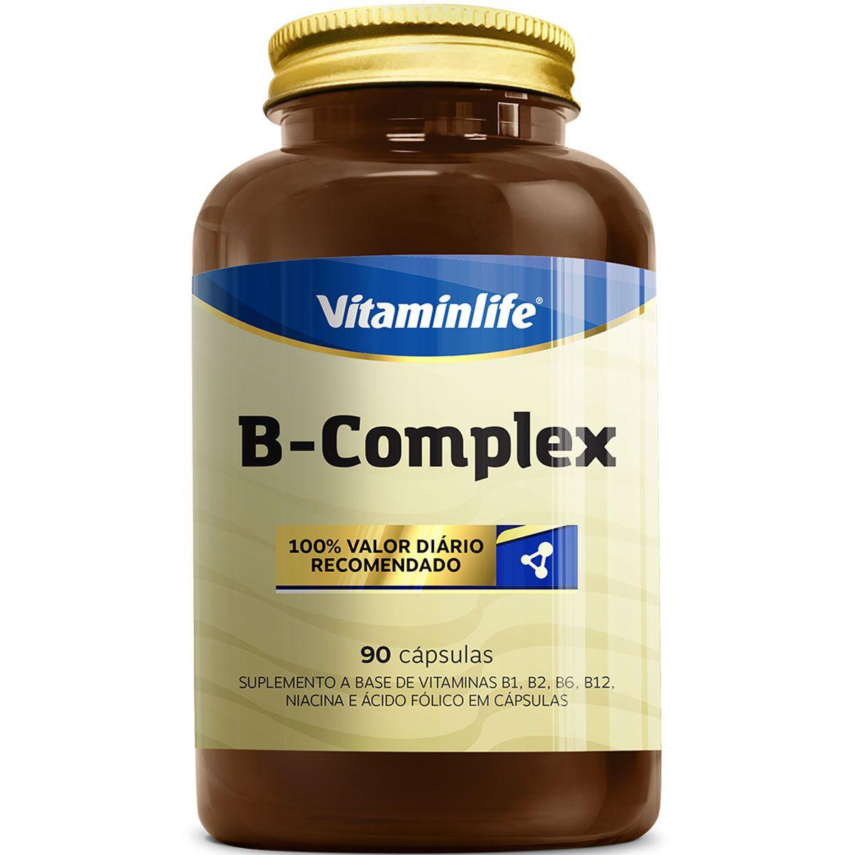 B Complex 90 Cápsulas Vitaminlife  - Vitta Gold
