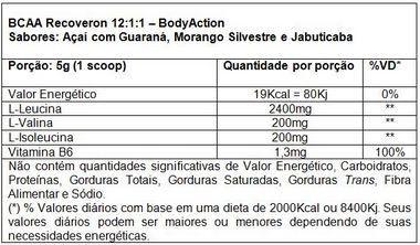 BCAA 12:1:1 Recoveron 100g Body Action  - Vitta Gold