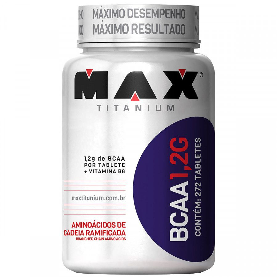 BCAA 1,2g 272 Tabletes Max Titanium  - Vitta Gold