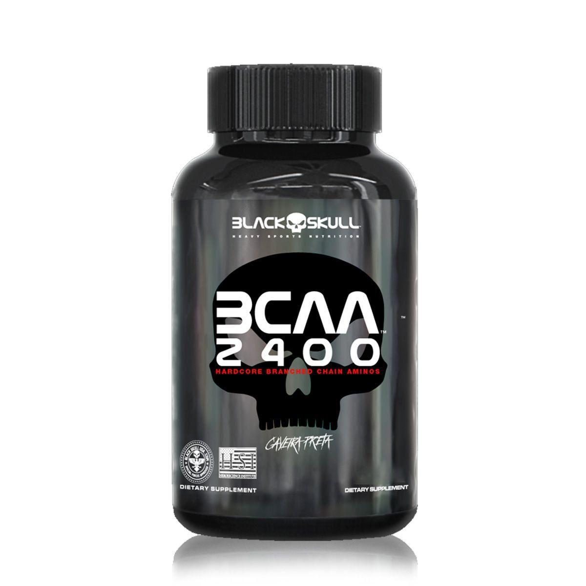 BCAA 2400 (400 Tabletes) Black Skull  - Vitta Gold