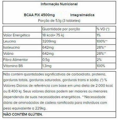 BCAA Fix 120 Tabletes Integralmédica