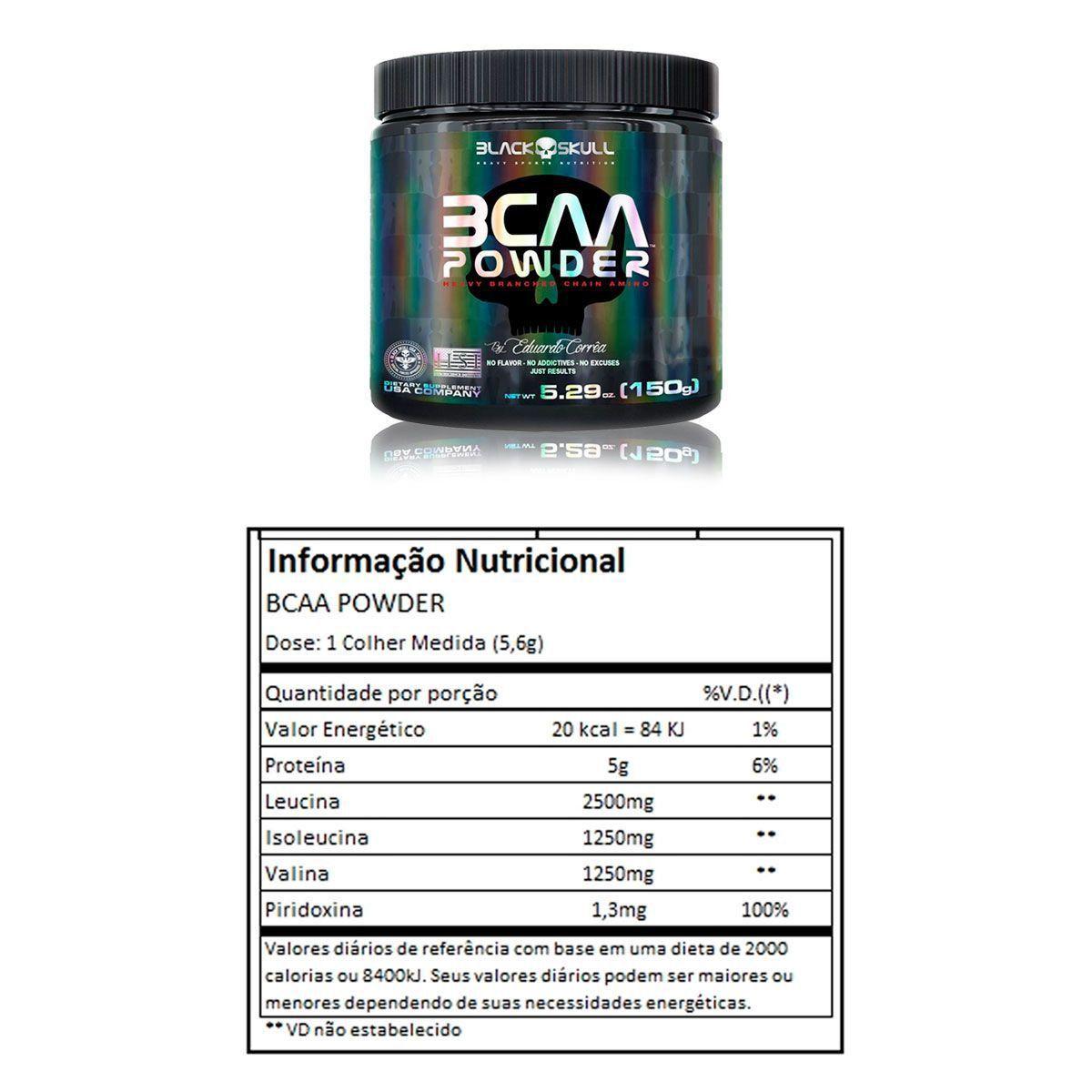BCAA Powder 150g Black Skull  - Vitta Gold