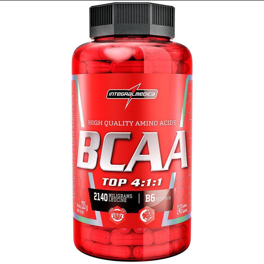 BCAA Top 4:1:1 120 Cápsulas Integralmédica  - Vitta Gold