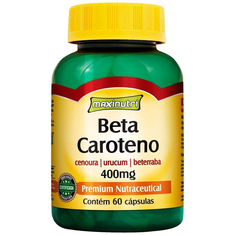 Beta Caroteno 400mg 60 Cápsulas Maxinutri