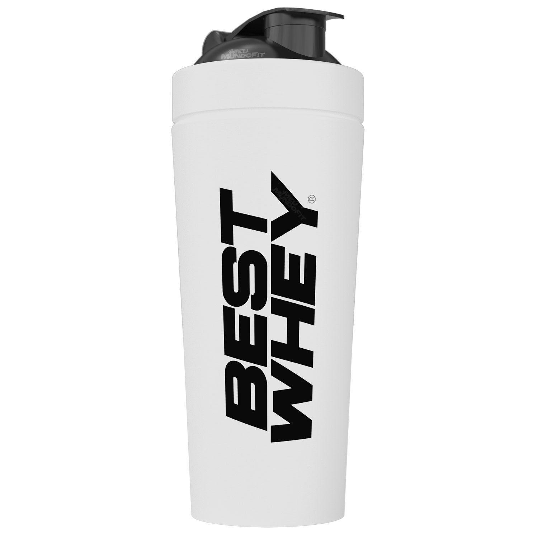 Blender Inox White Best Whey 739ml Atlhetica Nutrition